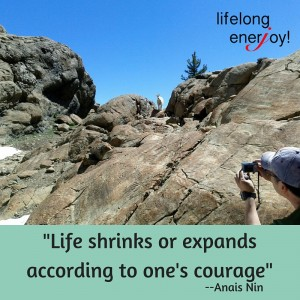 life shrinks or expands with courage