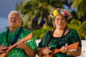 Tahitian man and woman